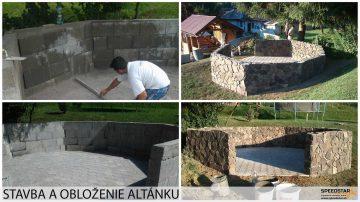Stavba a obloženie altánku - Stavebná firma Brezno