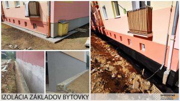 Izolácia základov bytovky - Stavebná firma Brezno