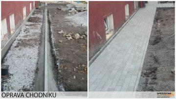 Oprava chodníku- Stavebná firma Brezno
