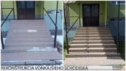 Rekonštrukcia schodiska - Stavebná firma Brezno