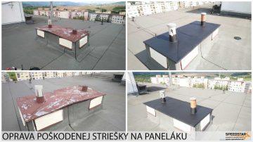 Oprava striešky panelák - Stavebná firma Brezno