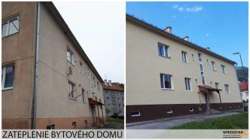 Zateplenie bytového domu - Stavebná firma Brezno