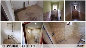 Rekonštrukcia kúpeľne - Stavebná firma Brezno