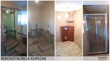Nové kúpeľne - Stavebná firma Brezno