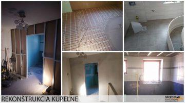 Obnova kúpeľne - Stavebná firma Brezno